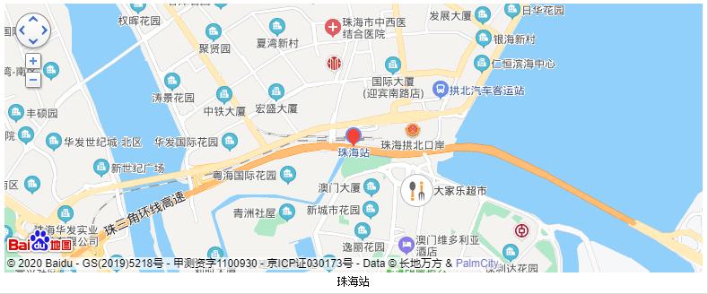珠海站地图